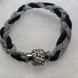 Jewelry - New Silver and Black Magnetic Bracelet